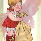 Don't Let the Cat out of the Bag, Raphael Tuck Valentine Vintage Postcard - 4996