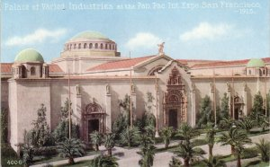 Palace of Varied Industries Panama Pacific International Exposition Edw. H. Mitchell Postcard - 5010