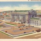 Union Station at Kansas City Missouri MO 1937 Curt Teich Postcard - 5014