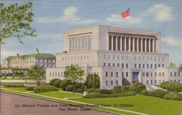 Cook Memorial Hospital in Fort Worth Texas TX 1955 Curt Teich Postcard - 5017
