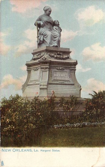 Margaret Statue in New Orleans Louisiana LA Raphael Tuck & Sons Vintage Postcard - 5034