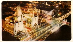 Grauman's Chinese Theater Hollywood California CA United Air Lines Advertising Postcard - 5038