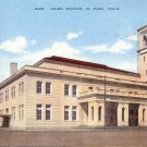 Union Station El Paso Texas TX 1945 Linen Postcard - 5049