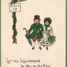 Irish Children Dressed in Green for St. Patrick's Day Holiday Vintage Postcard - 5053