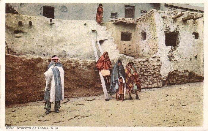 Streets of Acoma Pueblo New Mexico NM Detroit Publishing Vintage Postcard - 5075
