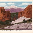 Gateway to Garden of the Gods in Colorado CO Vintage Postcard - 5079