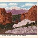Gateway to Garden of the Gods in Colorado CO Vintage Postcard - 5079