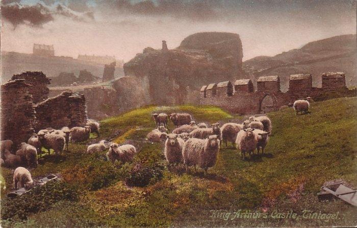 King Arthur's Castle Tintagel Cornwall England Vintage Postcard - 5083