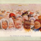 All Kinds of Little Troubles, Babies of Many Lands Vintage Postcard - 5085