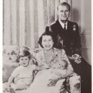 Duke and Duchess of Edinburgh with Prince Charles Princess Anne Postcard - 5088