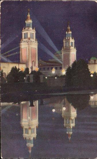 Italian Towers at Panama Pacific International Exposition San Francisco California CA - 5089