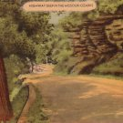 Highway Deep in the Missouri Ozarks Mid Century Linen Postcard - 5094