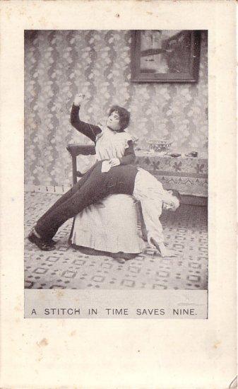 A Stitch in Time Saves Nine Comic Postcard - 5098