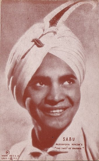 Actor Sabu from 1940 Movie The Thief of Bagdad Mutoscope Postcard - 5104
