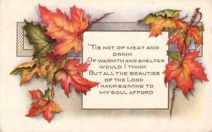 Whitney Thanksgiving Vintage Postcard - 5106