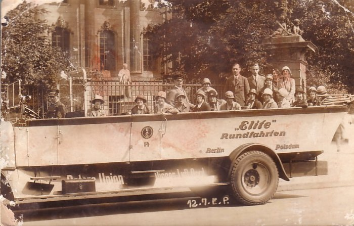 Berlin Germany Round Trip Tour Open Air Vehicle Real Photo Post Card RPPC - 5108