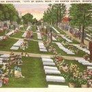 Moravian Graveyard on Easter Winston-Salem North Carolina NC Postcard - 5121
