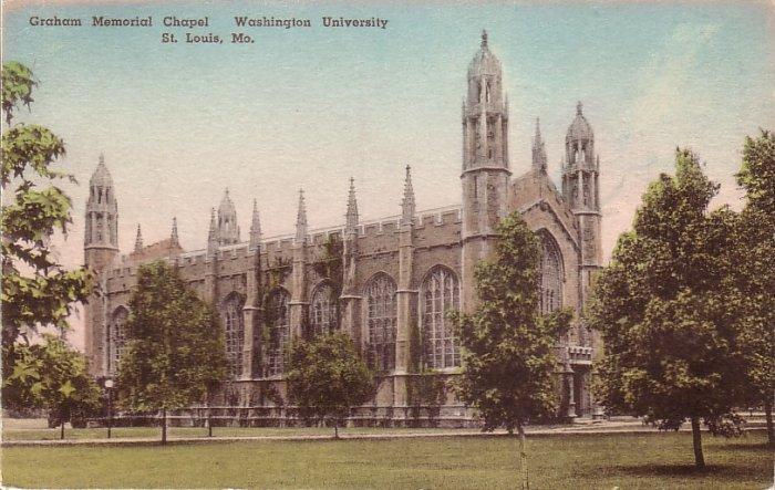 Graham Memorial Chapel Washington University St. Louis Missouri MO Postcard - 5125