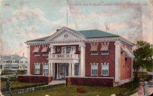 Illinois State Building Jamestown Exposition 1907  Vintage Postcard - 5136