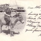 Her First Ride at Atlantic City New Jersey NJ 1904 Vintage Postcard - 5148