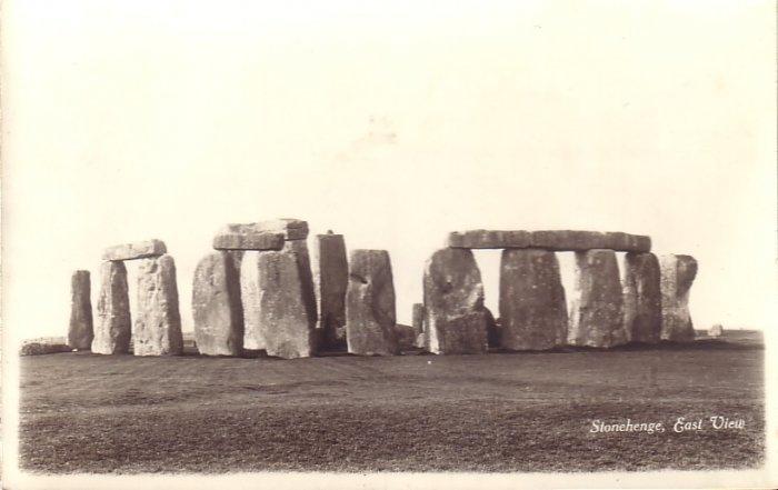 Stonehenge East View Real Photo Post Card RPPC - 5154