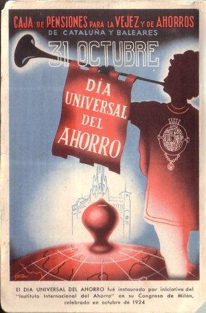 Universal Day of Savings by International Institute of Savings 1958 Postcard - 5156
