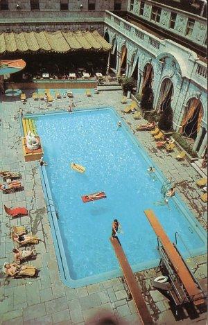 Chase Park Plaza Hotel Sun And Swim Club Pool St Louis Missouri Mo Postcard 5158