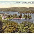 Prospect House and Island Lake Bomoseen Vermont VT 1916 Postcard - 5167