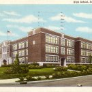 High School in Danville Illinois IL Curt Teich Linen Postcard - 5170