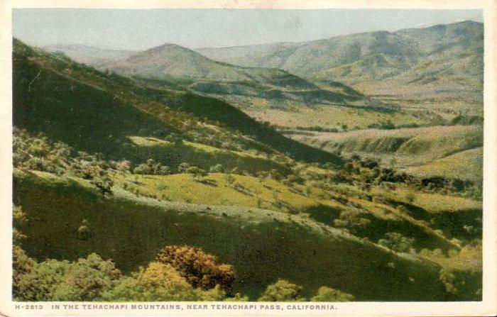 Tehachapi Mountains in California CA Fred Harvey Vintage Postcard - 5171