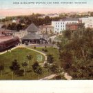 Train Arriving at Pere Marquette Station, Petoskey Michigan MI Vintage Postcard - 5172