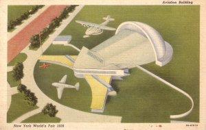 Aviation Building New York World's Fair 1939 Linen Postcard - 5182
