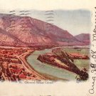 View of Glenwood Springs in Colorado CO 1908 Vintage Postcard - 5192