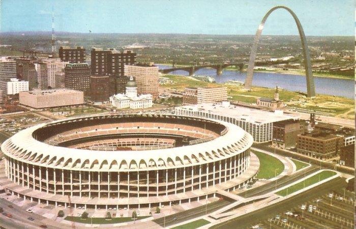 Busch Memorial Stadium in St. Louis Missouri MO Chrome Postcard - 5197