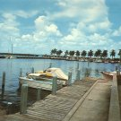 Ft. Myers Yacht Basin Florida FL Chrome Postcard - 5215