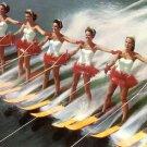 Aquamaids at Cypress Gardens Florida FL 1955 Curt Teich Chrome Postcard - 5232