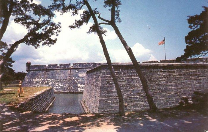 Castillo De San Marcos in St. Augustine Florida FL Postcard - 5248