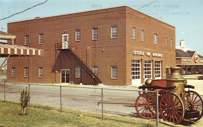 Crisfield Fire Department Maryland MD Chrome Postcard - 5254
