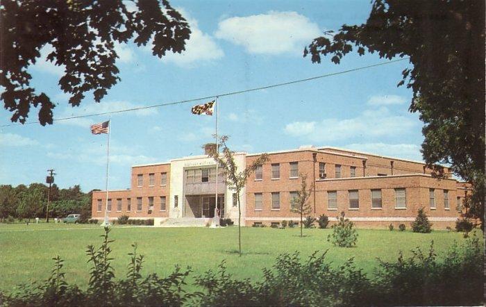 Maryland National Guard Armory in Salisbury Maryland MD, Chrome Postcard - 5255
