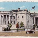 Memorial Continental Hall in Washington DC 1929 Vintage Postcard - 3943