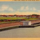 Race Track at Havre de Grace Maryland MD 1941 Linen Postcard - 3960