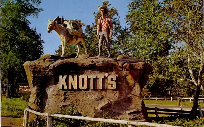 Pioneering Prospector Statue at Knott's Berry Farm Buena Park California CA Postcard - 3980