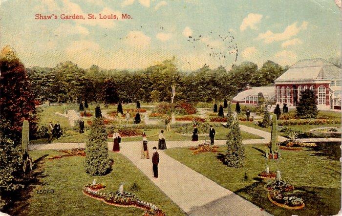 1914 View of Shaw's Garden in St. Louis Missouri MO Vintage Postcard - 3982