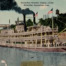 Excursion Steamer Sidney of the Streckfus Steamboat Line, Vintage Postcard - 3985