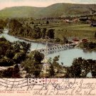 Roricks Glen Showing the Older Bridge in Elmira New York NY, Vintage Postcard - 3990