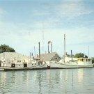 Harbor at Ewell Smith Island Maryland MD, Mid Century Chrome Postcard - 5267