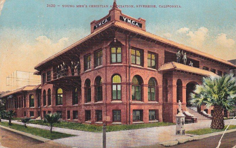 YMCA Building in Riverside California CA, 1913 Vintage Postcard - 5284