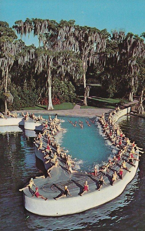 Esther Williams Swimming Pool At Cypress Gardens Florida Fl 1959 Chrome Postcard 5292