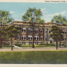 Pekin Community High School in Illinois IL, 1938 Linen Postcard - 5303
