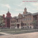 West Side High School in Waterloo Iowa IA, 1908 Vintage Postcard - 5308